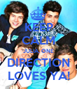 KEEP CALM JULIA, ONE DIRECTION LOVES YA! - Personalised Poster large