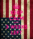 KEEP CALM JUST 3 WEEKS LEFT - Personalised Poster large