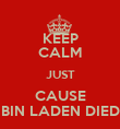 KEEP CALM JUST CAUSE BIN LADEN DIED - Personalised Poster large