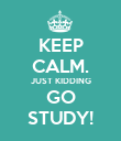 KEEP CALM. JUST KIDDING GO STUDY! - Personalised Poster large