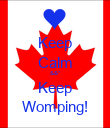 Keep Calm &&* Keep Womping! - Personalised Poster large