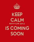 KEEP CALM KRYPTON 2012 IS COMING SOON - Personalised Poster large