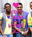 KEEP CALM KYRA LOVES JLS - Personalised Poster large
