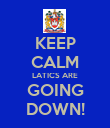 KEEP CALM LATICS ARE GOING DOWN! - Personalised Poster large