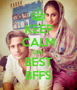 KEEP CALM LIKE BEST BFFS - Personalised Poster large