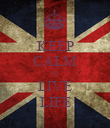 KEEP CALM & LIVE LIFE - Personalised Poster large