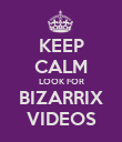 KEEP CALM LOOK FOR BIZARRIX VIDEOS - Personalised Poster large