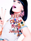 KEEP CALM  Love Jessie J - Personalised Poster large