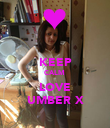 KEEP CALM  LOVE UMBER X - Personalised Poster large