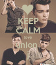 KEEP CALM love union  j - Personalised Poster large