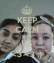 KEEP CALM LOVE US <3 <3 ;) - Personalised Poster large