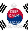KEEP CALM  LUCAS EDUARDO - Personalised Poster large