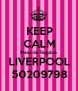 KEEP CALM Mesa de Regalos   LIVERPOOL  50209798 - Personalised Poster large