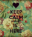 KEEP CALM MUMMY IS  HERE - Personalised Poster large