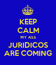 KEEP CALM MY ASS JURIDICOS ARE COMING - Personalised Poster large