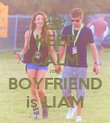 KEEP CALM my BOYFRIEND is LIAM - Personalised Poster large