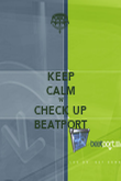KEEP CALM 'N' CHECK UP BEATPORT - Personalised Poster large