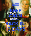 KEEP CALM NCIS IS BACK IN  13 DAYS - Personalised Poster large