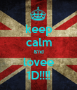keep calm &'nd lovee 1D!!!! - Personalised Poster large