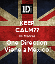 KEEP CALM?? Ni Madres One Direction  Viene a Mexico! - Personalised Poster large