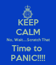 KEEP CALM No, Wait....Scratch That Time to  PANIC!!!! - Personalised Poster large