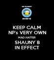 KEEP CALM NP's VERY OWN MAD HATTER SHAUNY B IN EFFECT - Personalised Poster large