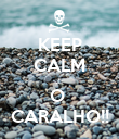 KEEP CALM ... O  CARALHO!! - Personalised Poster large