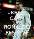 KEEP CALM O RONALDO RESOLVE - Personalised Poster large
