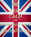 KEEP CALM One  Direction love @elisafelicita - Personalised Poster large