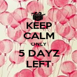KEEP CALM ONLY 5 DAYZ LEFT - Personalised Poster large