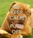 KEEP CALM OR FUCK OFF - Personalised Poster large