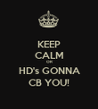 KEEP CALM OR HD's GONNA CB YOU! - Personalised Poster large