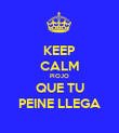 KEEP CALM PIOJO QUE TU PEINE LLEGA - Personalised Poster large