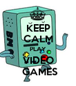 KEEP CALM PLAY VIDEO  GAMES - Personalised Poster large