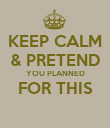 KEEP CALM & PRETEND YOU PLANNED FOR THIS  - Personalised Poster large