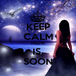 KEEP CALM PROM IS  SOON - Personalised Poster large