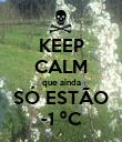 KEEP CALM que ainda SÓ ESTÃO -1 ºC - Personalised Poster large