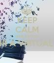 KEEP CALM QUE ESTOU A OUVIR A VIRTUAL RADIO  - Personalised Poster large