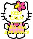 KEEP CALM que eu não MIO mas ARRANHO! - Personalised Poster small
