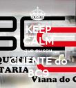 KEEP CALM que eu sou CLIENTE do BC9 - Personalised Poster small