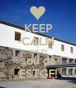 KEEP CALM que eu sou da ESTGF! - Personalised Poster small