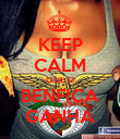 KEEP CALM QUE O BENFICA GANHA - Personalised Poster small