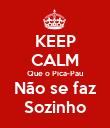 KEEP CALM Que o Pica-Pau Não se faz Sozinho - Personalised Poster large