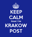 KEEP CALM Read The KRAKOW POST - Personalised Poster large