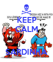 KEEP CALM   SARDINHA - Personalised Large Wall Decal