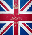 KEEP CALM SI ARDE`O AIUREA ASE` CA IN VACANTA:> - Personalised Poster large