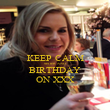 KEEP CALM SISTER AND BIRTHDAY ON XXX - Personalised Poster large