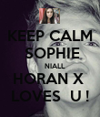 KEEP CALM     SOPHIE          NIALL  HORAN X  LOVES  U ! - Personalised Poster large
