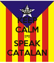 KEEP CALM !!*!! SPEAK CATALAN - Personalised Poster small