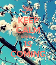 KEEP CALM SPRING IS COMING - Personalised Poster large